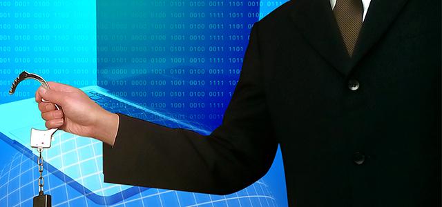 サイバー犯罪の取り締まりを行う警察のイメージ