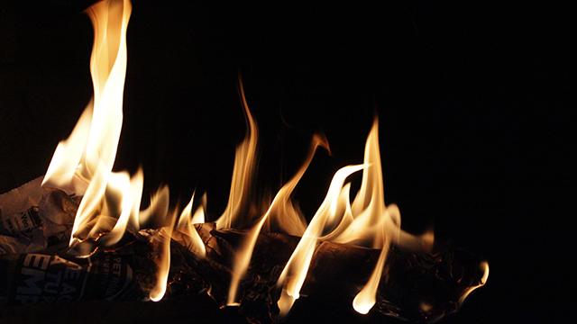 炎上の様子